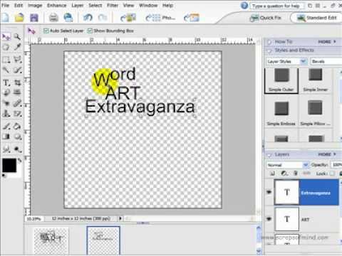Digital Scrapbook tutorial - How to Make Word Art