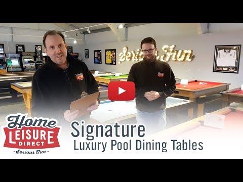 The Signature Luxury Pool Table Range | Friday Video Update 16th Feb 2018