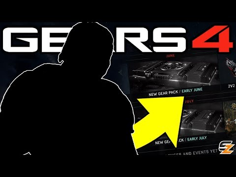 Gears of War 4 - June/July Update, New Gear Packs teased, New Unlockable Weapon Skins & More!