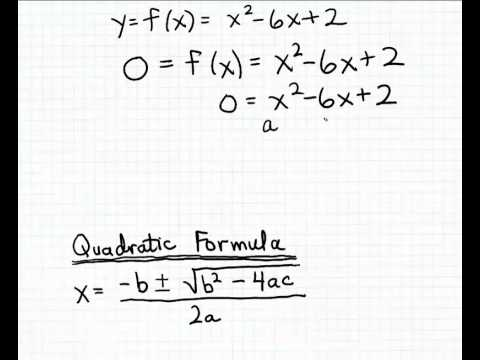 Finding the x-intercepts using the Quadratic Formula