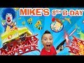 MIKES 8th BIRTHDAY Roller Coaster Bottle Flip Arcade Madness FUNnel Vision Theme Park Playti