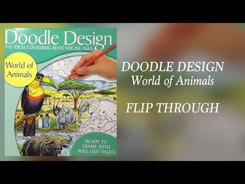 DOODLE DESIGN - World of Animals - flip through