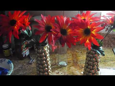 Diy Spring Dollar Tree Gem Vase Set