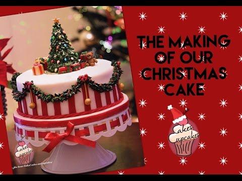 Christmas cake tutorial
