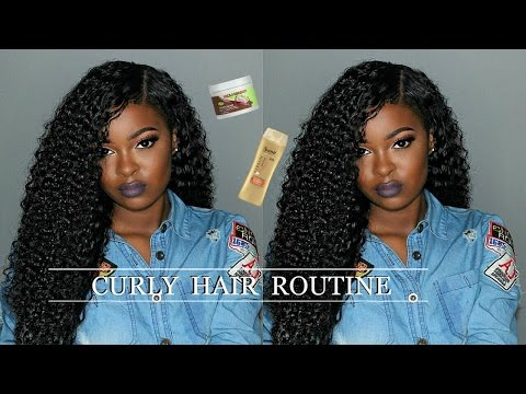 Curly Hair Routine 2017 ft. Amazon SuperNova Hair | Pitts Twins