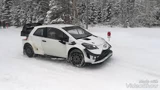 Esapekka Lappi, JM Latvala and Ott Tänak testing Toyota Yaris Wrc to Rally Sweden 2018