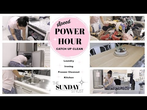 SPEED CLEAN MY HOUSE - CLEANING CATCH UP POWER HOUR || THE SUNDAY STYLIST