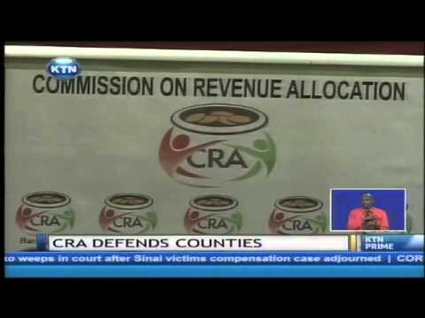 Commission of revenue allocation defends Counties on fighting corruption