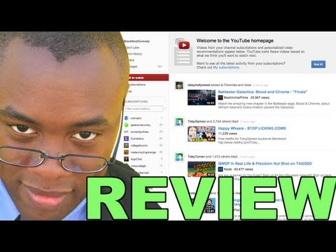 NEW YOUTUBE LAYOUT REVIEW -