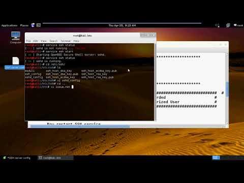 Kali Linux SSH server Configuration