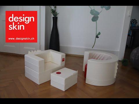 designskin.ch - TUNNEL sofa + CAKE sofa