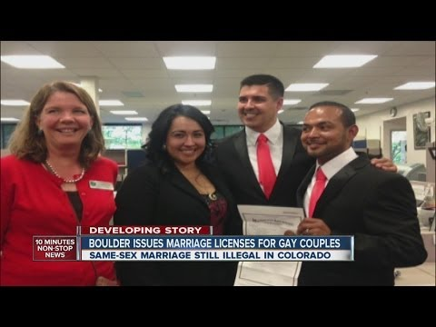 Colorado lawmaker, partner get marriage license
