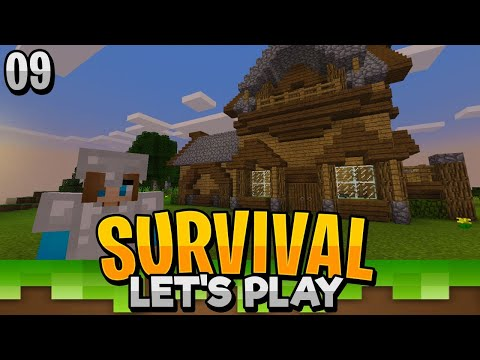 OUR NEW HOME IS FINISHED!! - Minecraft Bedrock Survival Let's Play EP.9 (PE WIN10)