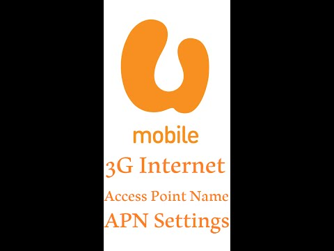 U Mobile 3G Internet APN Access Point Name Settings for faster internet