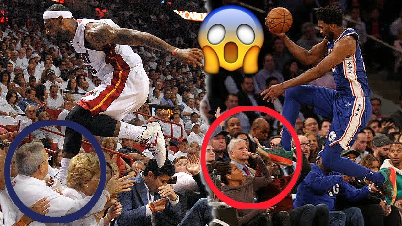 NBA Players Dives Into the Crowd
