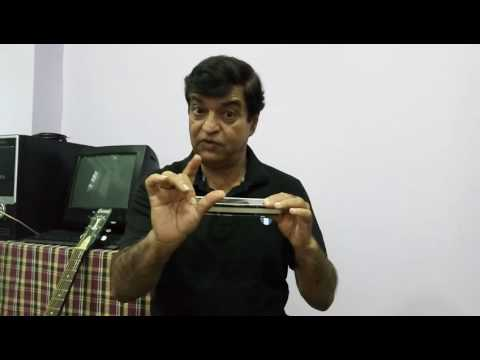 Techniques of Chromatic Harmonica (Mouth Organ) - Tutorial-1 in Hindi