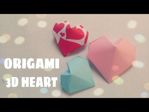 DIY Origami Ornament - 3D Origami Heart
