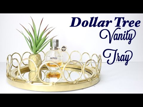 Dollar Tree DIY Mirrored Tray - DIY Vanity Tray