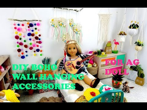DIY BOHO HANGING ACCESSORIES FOR AMERICAN GIRL DOLL