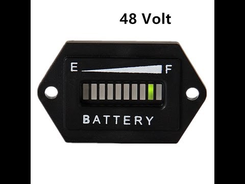 Battery Meter on Club Car Precedent(how to install)