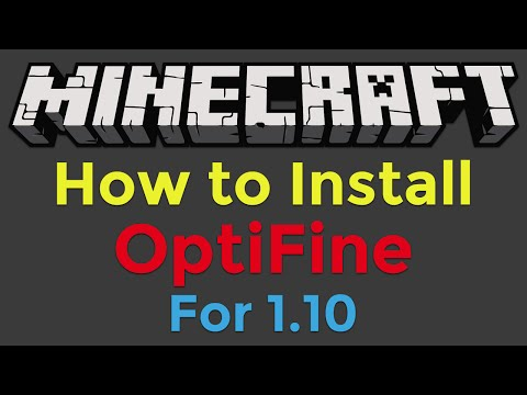 How To Install Optifine For Minecraft 110