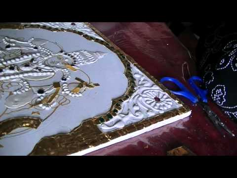 Learn tanjore painting- gold foil work Part1