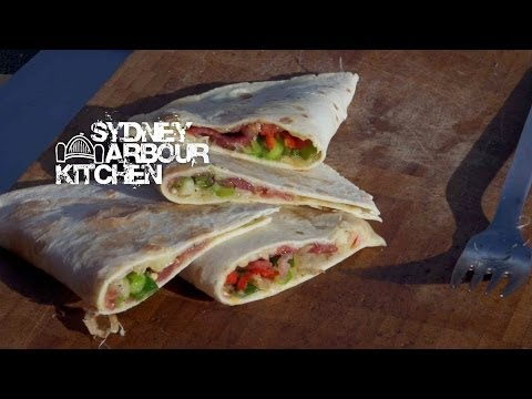 How to make a Jamon (Ham) and Cheese Quesadilla - Sydney Harbour Kitchen Ep 6