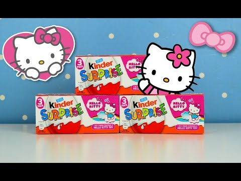 Opening Surprise eggs Hello Kitty Collection Review Kinder Egg Collection