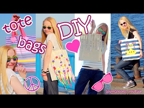 DIY Tote Bags – How To Make And Decorate Tote Bags – easy tutorial