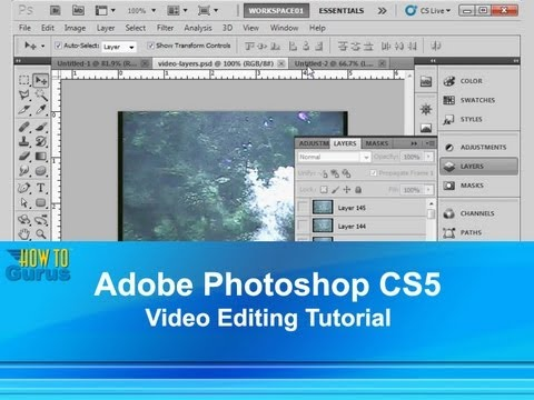 Photoshop Video Editing : How to Import and Work with Video : CC CS6 CS5 Tutorial
