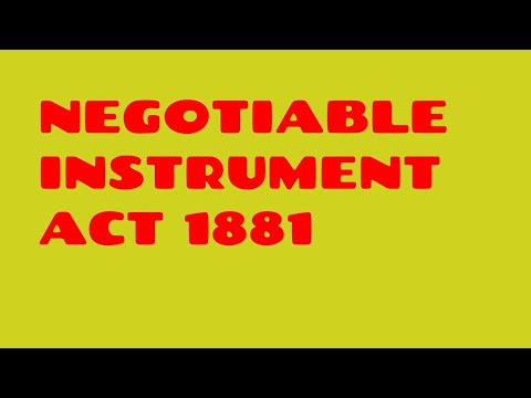 NEGOTIABLE INSTRUMENT ACT JAIIB CAIIB BANK PROMOTION LECTURE VIDEO