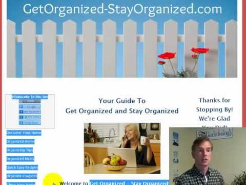 Free Website Review Video - Get Organized-Stay Organized!