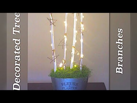 Dollar Tree DIY/ Decorated Tree Branches