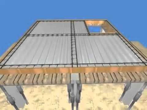 Composite steel deck.