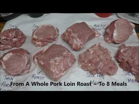 ~Be Your Own Butcher . . .Turn 1 Whole Pork Loin Roast Into 8 Meals~
