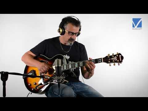 Semi-Hollow Guitar: electric and acoustic sound comparison