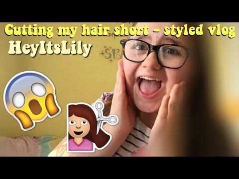 Getting my haircut short - styled vlog 😱💇🏻 HeyItsLily