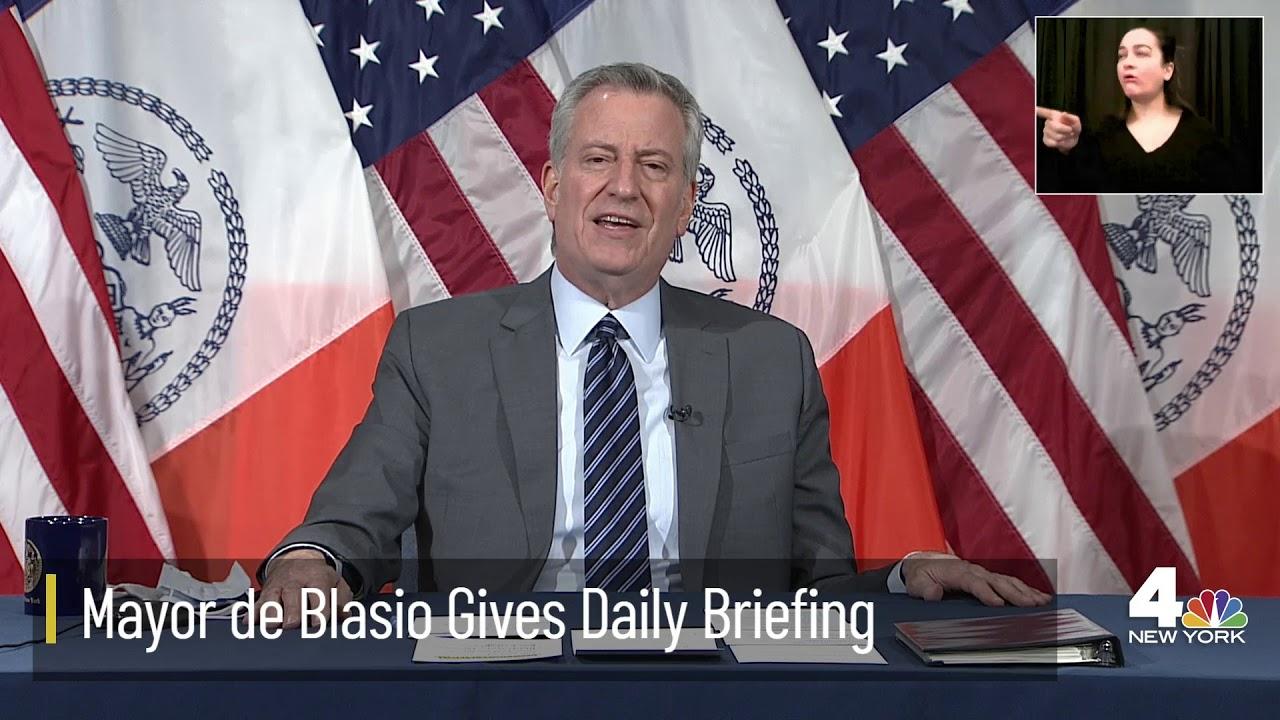LIVE: NYC Mayor De Blasio Holds Daily Coronavirus Briefing