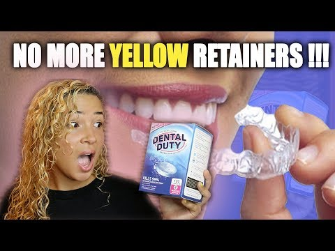 HOW TO REMOVE YELLOW STAINS FROM RETAINERS