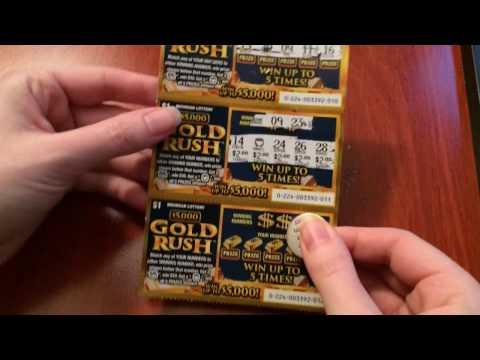 New $1 $5,000 Gold Rush - Michigan Lottery - 5/2/17