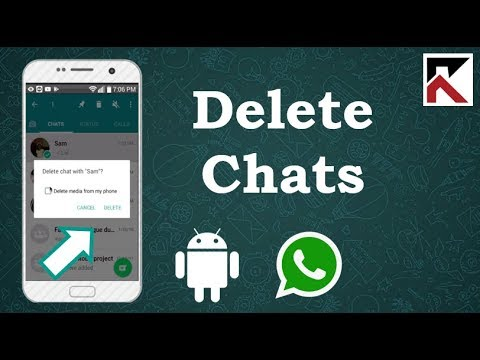 How To Delete Conversations On WhatsApp Android 2018