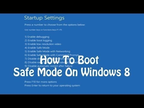 How To Start Windows 8 in Safe Mode with Command Prompt