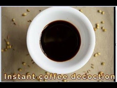 instant coffee Decoction