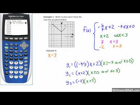 Piecewise Functions on a Calculator (Restricting the Domain on a Calculator)