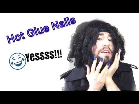 Hot Glue Nails