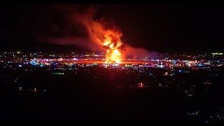 Burning Man 2018 - Man Burn Drone View