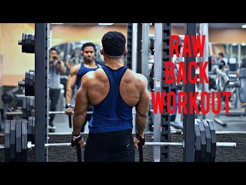 FIRST EXPO - RAW BACK WORKOUT NO MUSIC OR EDITS