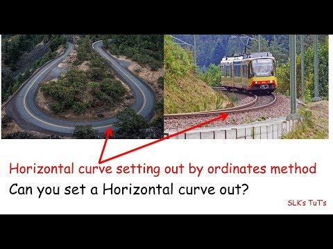 Curve setout by ordinates method.