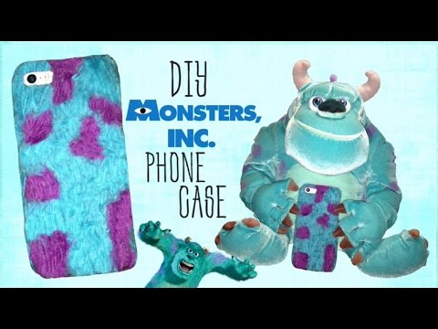 DIY Monsters Inc. Fur Phone Case