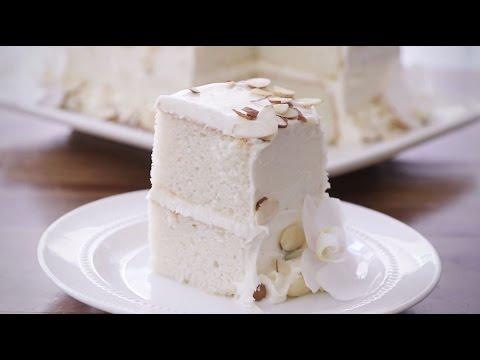 How To Make White Almond Wedding Cake | Dessert Recipes | Allrecipes.com